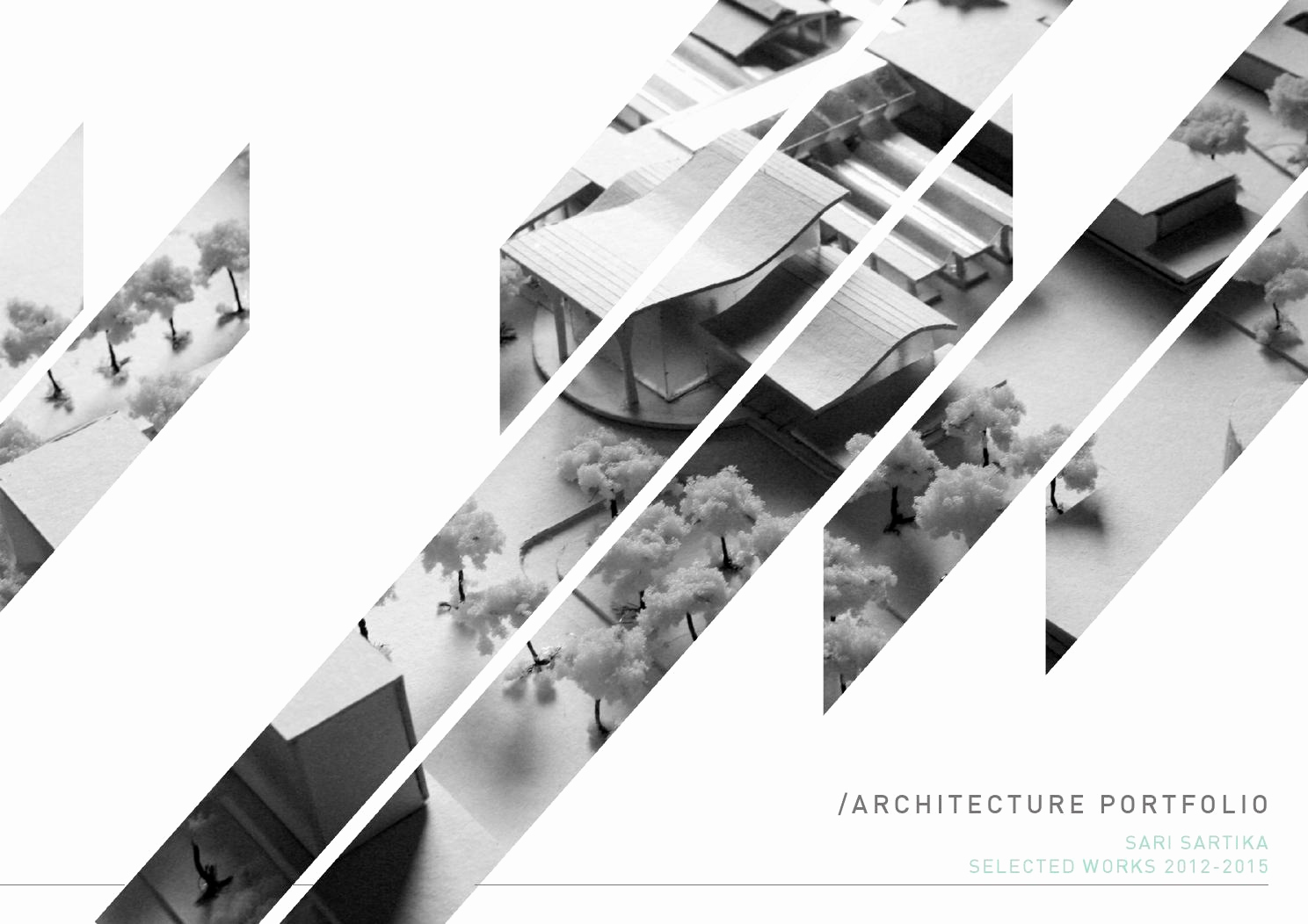 Portfolio Cover Page Template New Architecture Portfolio by Sari Sartika issuu