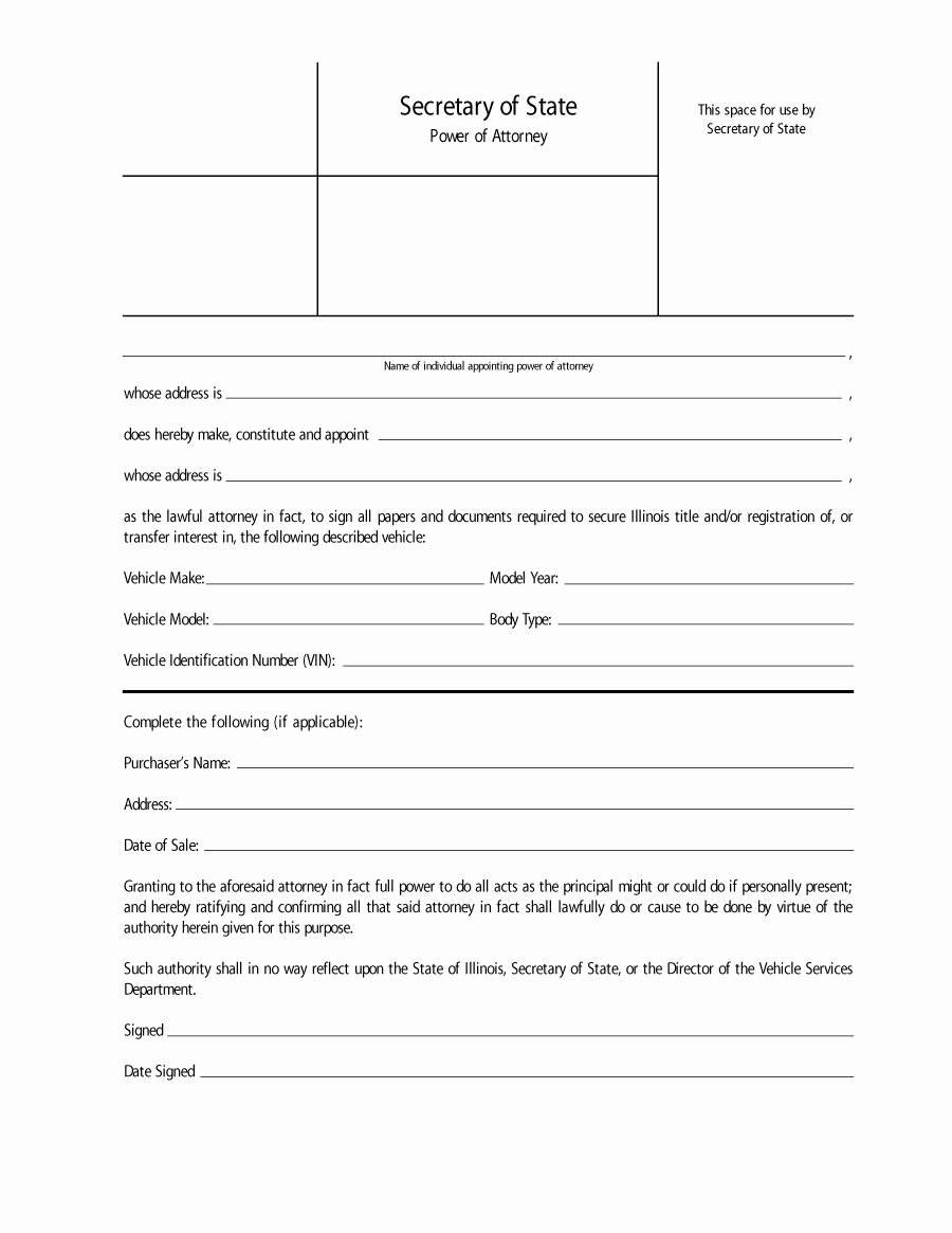Power Of attorney Example Luxury 50 Free Power Of attorney forms & Templates Durable