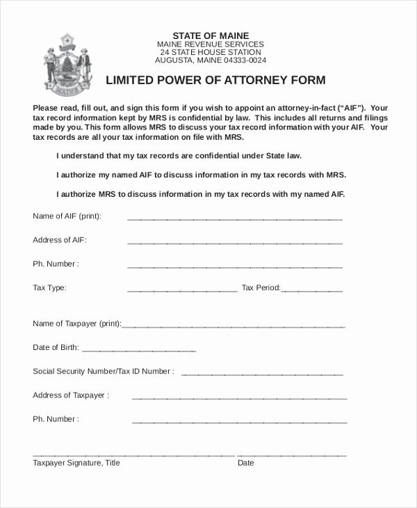 Power Of attorney form Pdf Elegant Sample Power Of attorney form 10 Free Documents In Doc Pdf