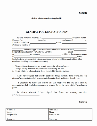 Power Of attorney form Pdf New General Power Of attorney form Download Edit Fill
