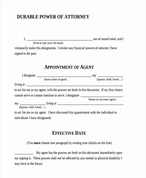 Power Of attorney form Pdf Unique Power Of attorney forms In Pdf