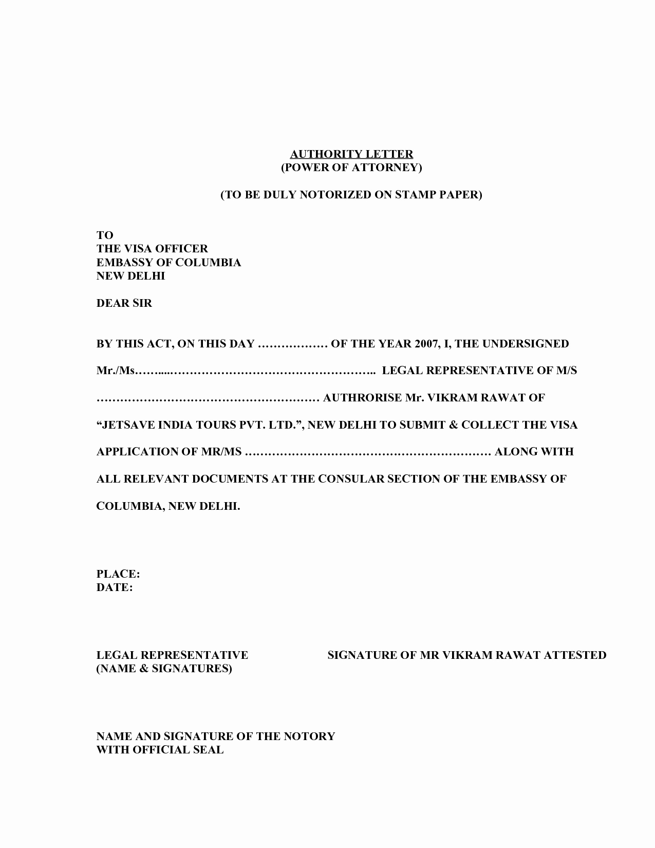 Power Of attorney Letter Best Of 17 Power attorney Resignation Letter Template Samples