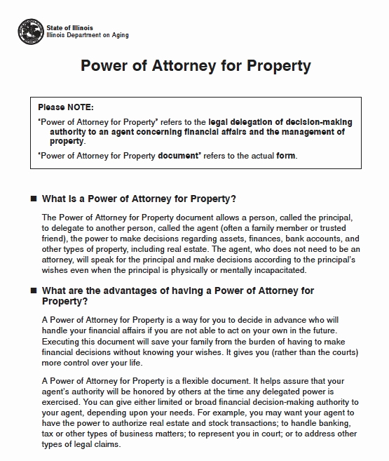 Power Of attorney Pdf Inspirational Free Illinois Power Of attorney forms and Templates