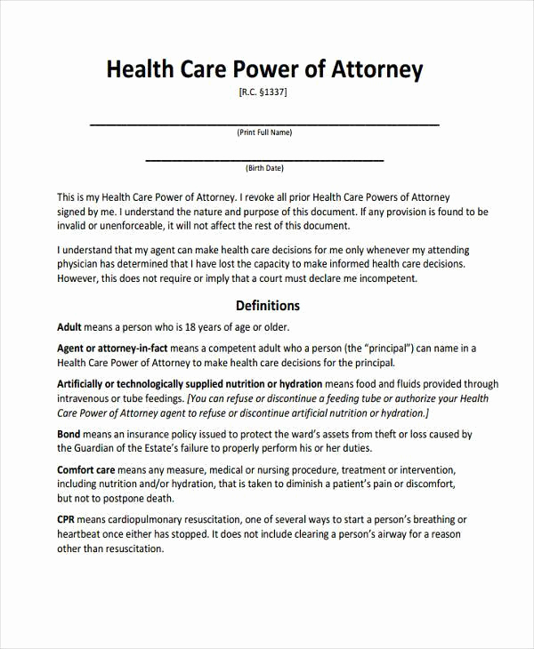 Power Of attorney Pdf Lovely Power Of attorney forms In Pdf