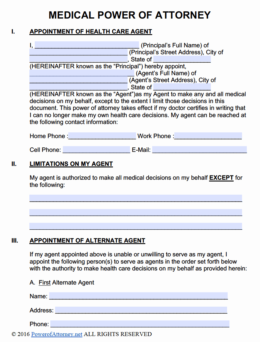 Power Of attorney Pdf Unique Medical Power Of attorney forms