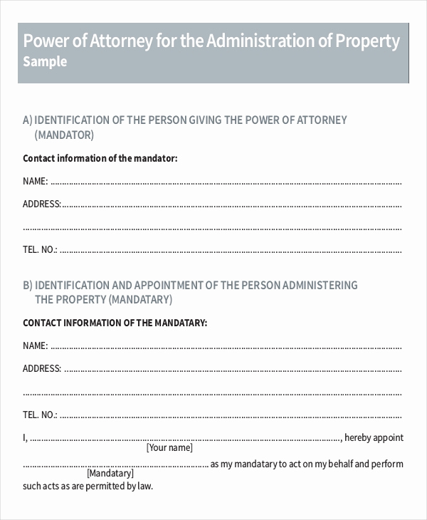 Power Of attorney Sample Letter Fresh 16 Power Of attorney Templates Free Sample Example