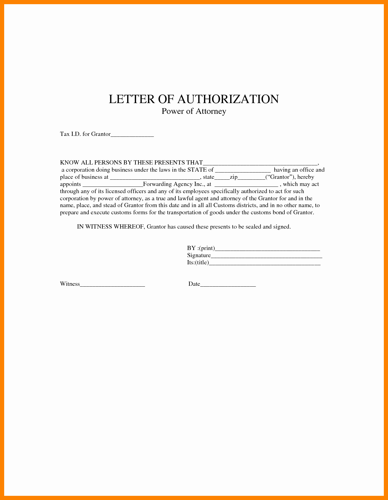 Power Of attorney Sample Letter Fresh General Power attorney Letter Template Collection