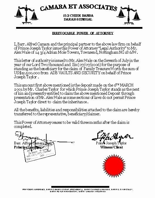 Power Of attorney Sample Letter Fresh Printable Sample Power Of attorney form