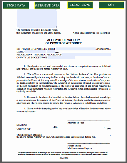 Power Of attorney Sample Letter Lovely Affidavit Of Validity Of Power Of attorney