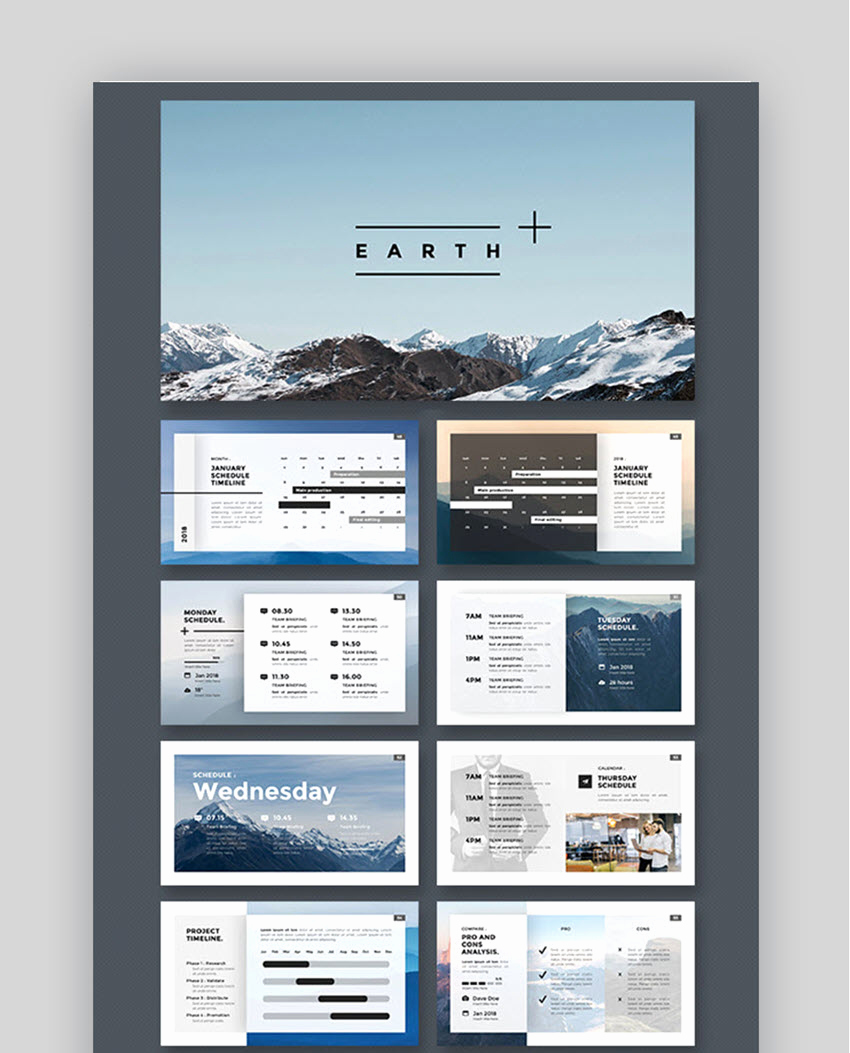 Power Point Calendar Templates Awesome 18 Best Powerpoint Calendar Template Ppt Designs for 2019