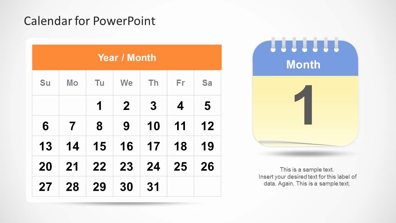 Power Point Calendar Templates Awesome Calendar Template for Powerpoint Slidemodel