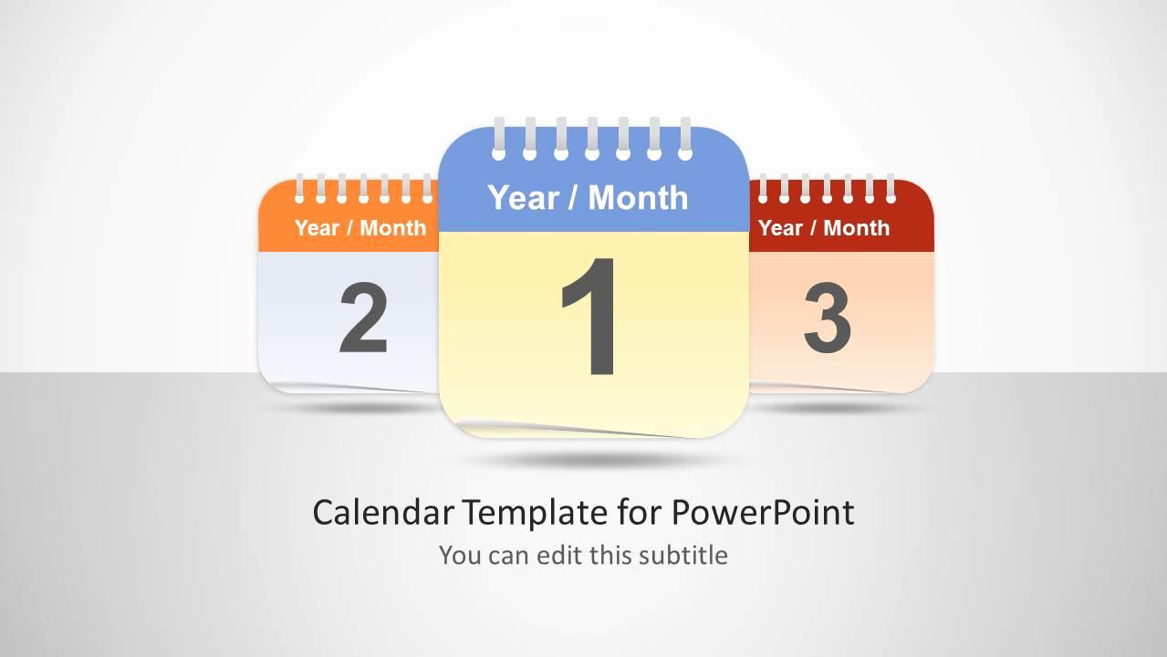 Power Point Calendar Templates Beautiful Calendar Template for Powerpoint Slidemodel