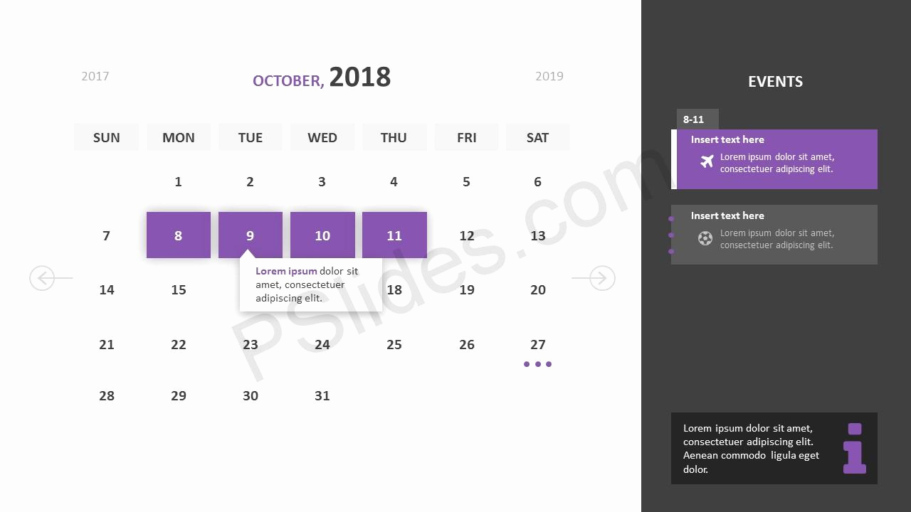 Power Point Calendar Templates Best Of Free 2018 Calendar Powerpoint Template Pslides