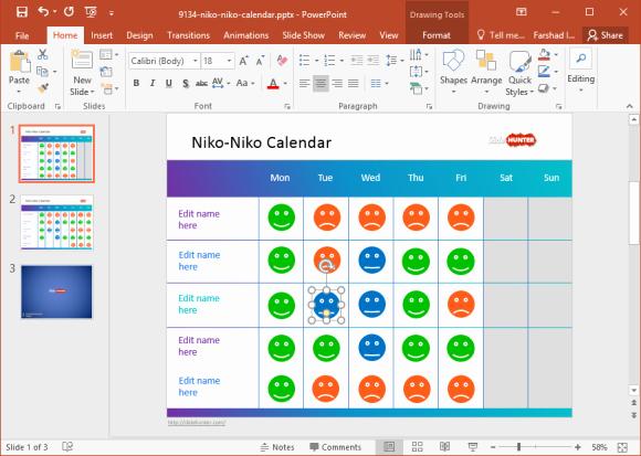 Power Point Calendar Templates Best Of Free Mood Calendar for Powerpoint