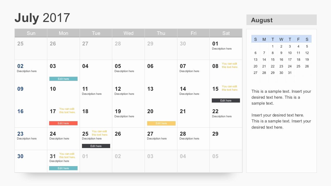Power Point Calendar Templates Inspirational Free Calendar 2017 Template