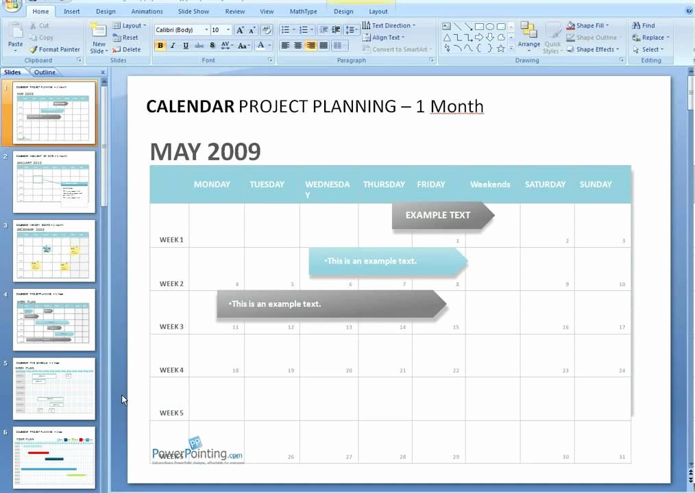 Power Point Calendar Templates Inspirational How to Edit A Calendar In Powerpoint