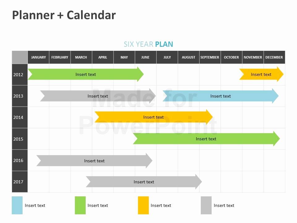 Power Point Calendar Templates Inspirational Planner Calendar Editable Powerpoint Template