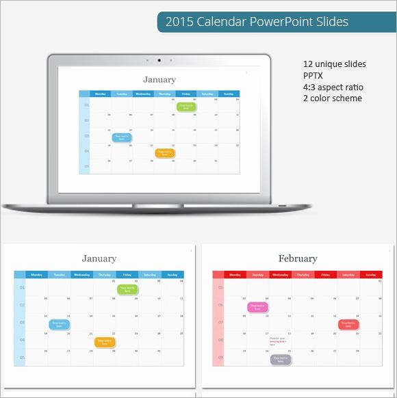 Power Point Calendar Templates Luxury 8 Sample Powerpoint Calendar Templates