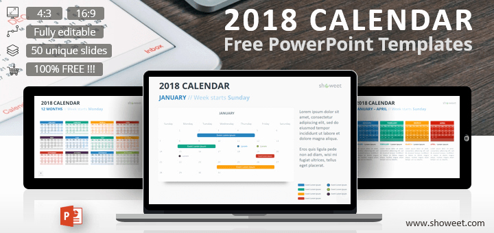Power Point Calendar Templates New Creative and Free Powerpoint Templates Showeet