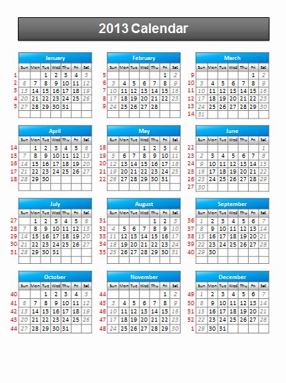 Power Point Calendar Templates New Simple 2013 Calendar Powerpoint Template