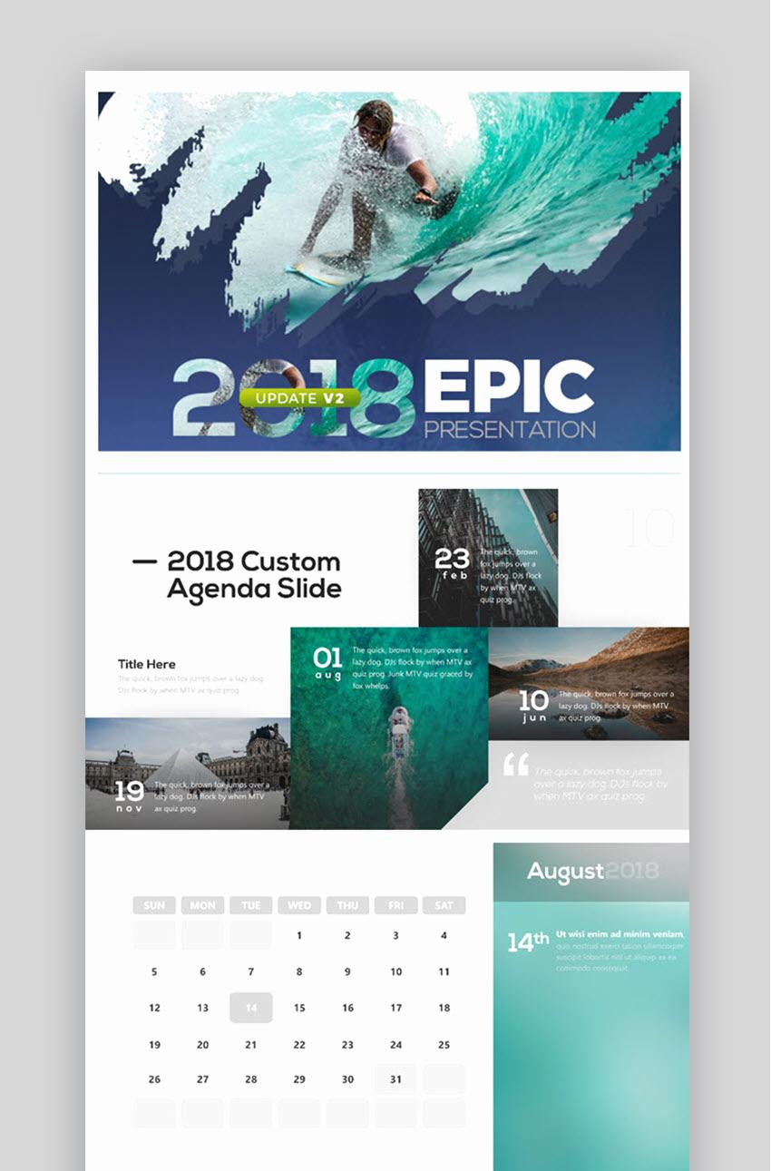 Power Point Calendar Templates Unique 18 Best Powerpoint Calendar Template Ppt Designs for 2018