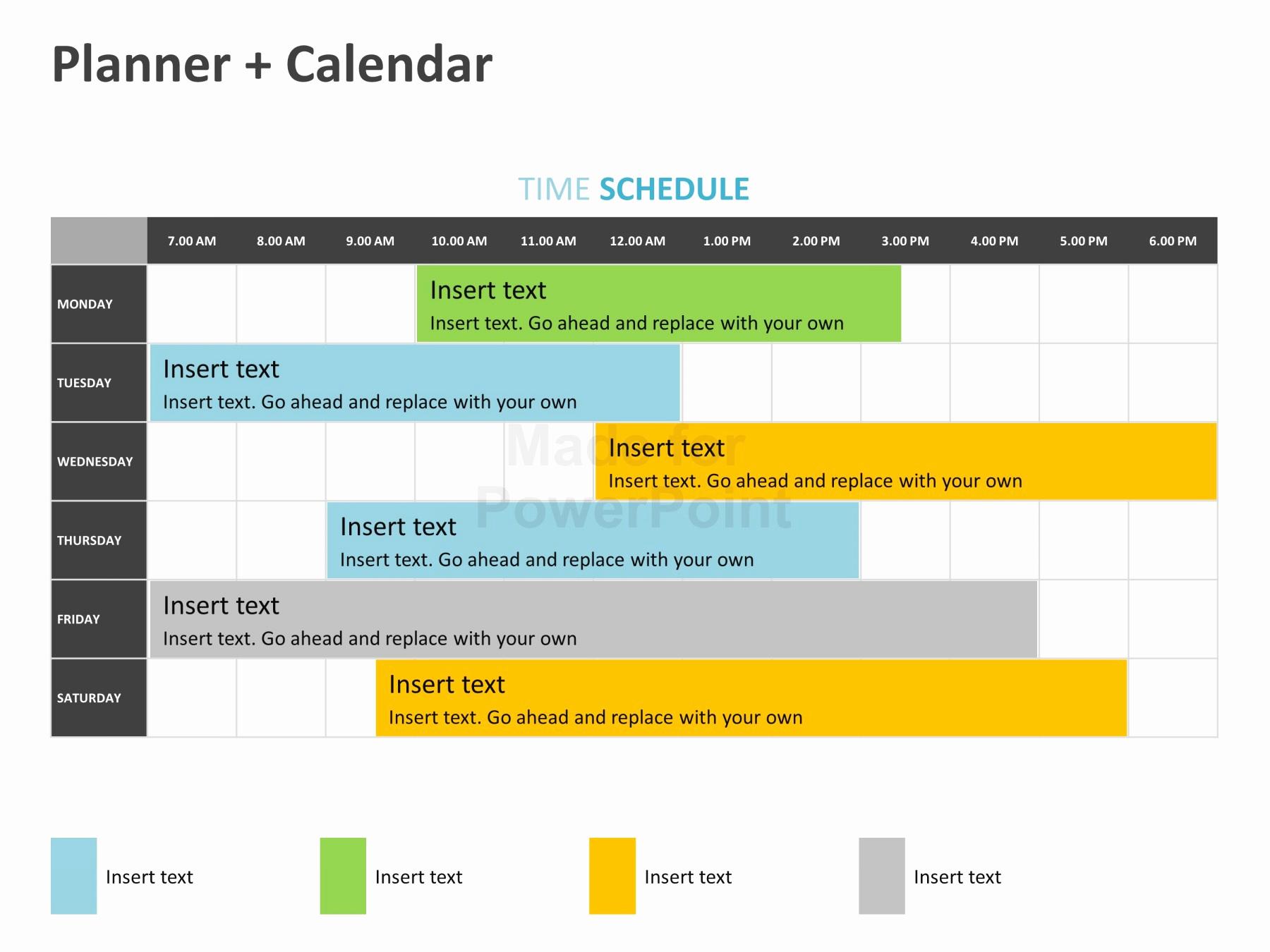 Power Point Calendar Templates Unique Planner Calendar Editable Powerpoint Template