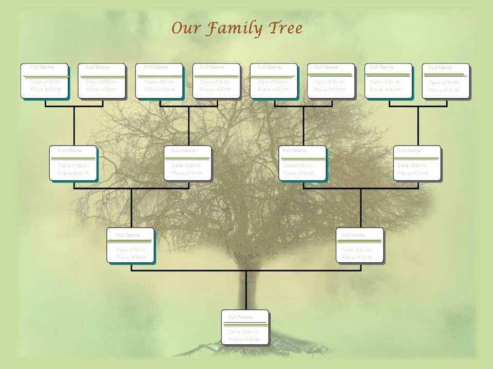 Powerpoint Family Tree Template Inspirational Family Tree Chart Template Example