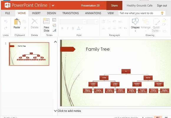 Powerpoint Family Tree Template Unique Family Tree Chart Maker Template for Powerpoint Line