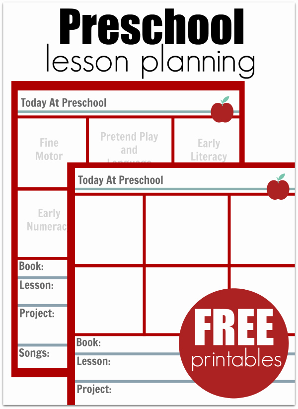 Pre K Lesson Plan Templates Awesome Preschool Lesson Planning Template Free Printables