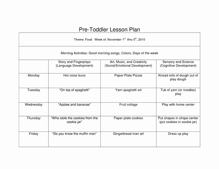 Pre K Lesson Plan Templates Best Of Creative Curriculum Blank Lesson Plan