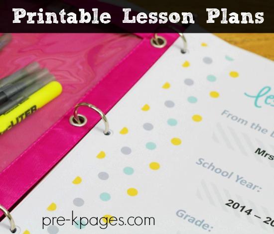 Pre Kindergarten Lesson Plan Template Elegant Printable Lesson Plans for Preschool Pre K and Kindergarten