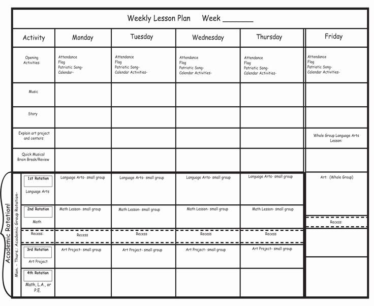 Pre Kindergarten Lesson Plan Template Luxury Best 25 Preschool Lesson Plan Template Ideas On Pinterest