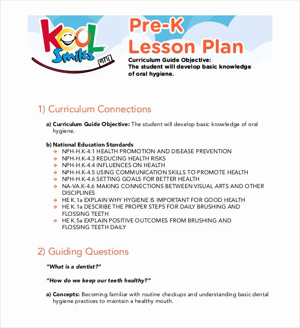 Prek Lesson Plan Template Best Of Pre K Business Plan Stie Pertiwi