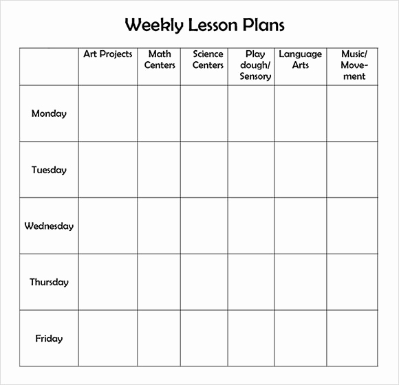 Prek Lesson Plan Templates Beautiful Weekly Lesson Plan 8 Free Download for Word Excel Pdf