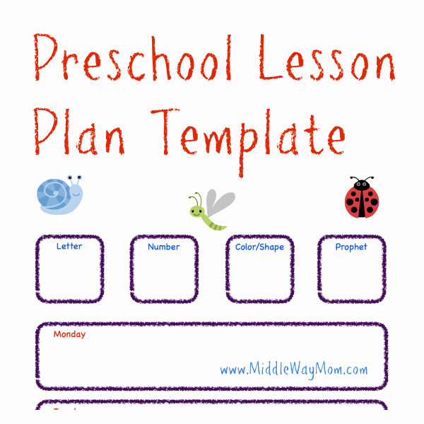 Prek Lesson Plan Templates New Make Preschool Lesson Plans to Keep Your Week Ready for