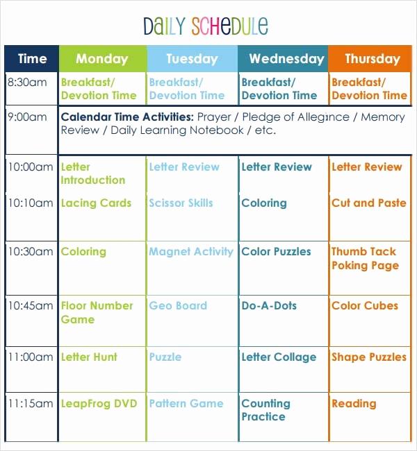 Prek Lesson Plan Templates Unique Preschool Lesson Plan Template 10 Download Free