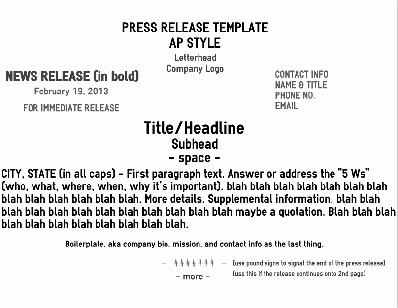 Press Release format Template Awesome Five Pro Tips for A Rockin' News Release