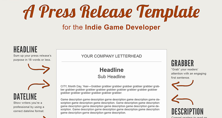 Press Release format Template Unique A Press Release Template Perfect for the In Game Developer