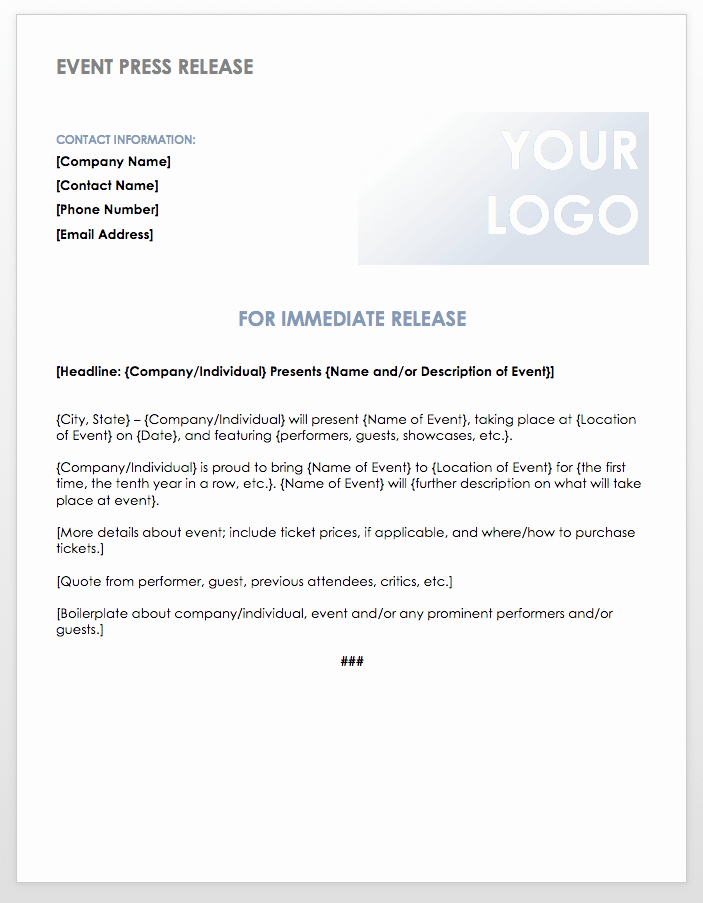 Press Release Template Word Awesome Free Press Release Templates