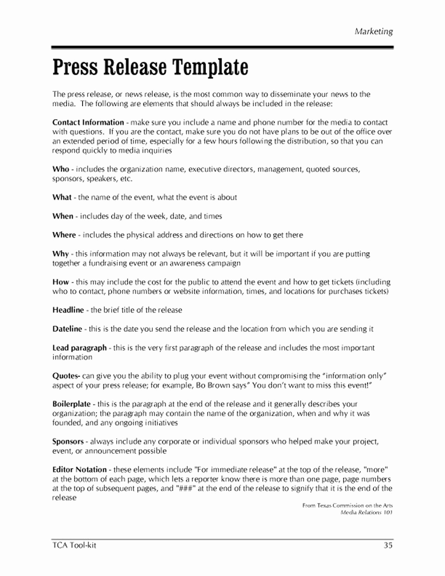 Press Release Template Word Best Of 47 Free Press Release format Templates Examples & Samples