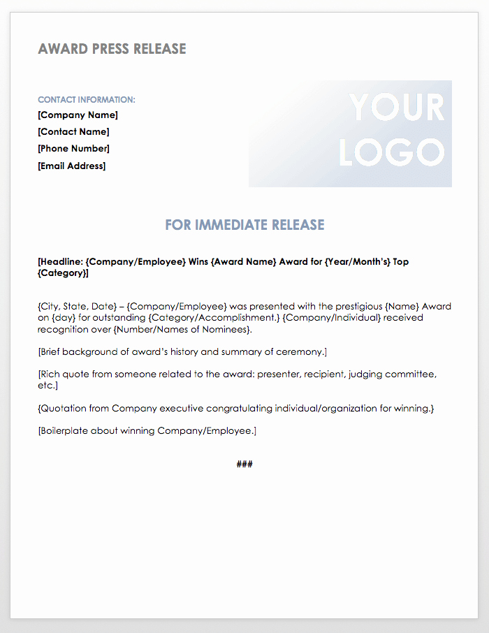 Press Release Template Word Best Of Free Press Release Templates