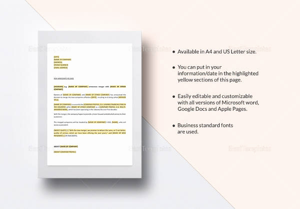 Press Release Template Word Best Of Press Release Template 21 Free Word Pdf Document