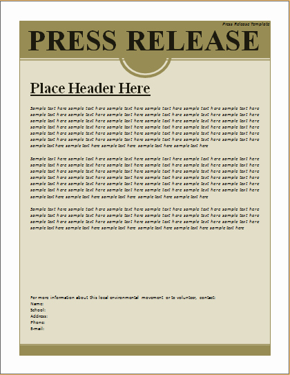 Press Release Template Word Best Of Press Release Template – Excel Word Templates