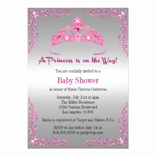 Princess Baby Shower Invitations Awesome Princess Baby Shower Invitation