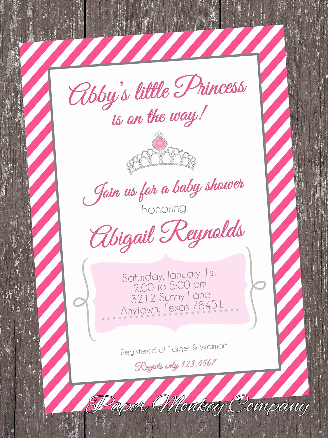 Princess Baby Shower Invitations Awesome Princess Baby Shower Invitations