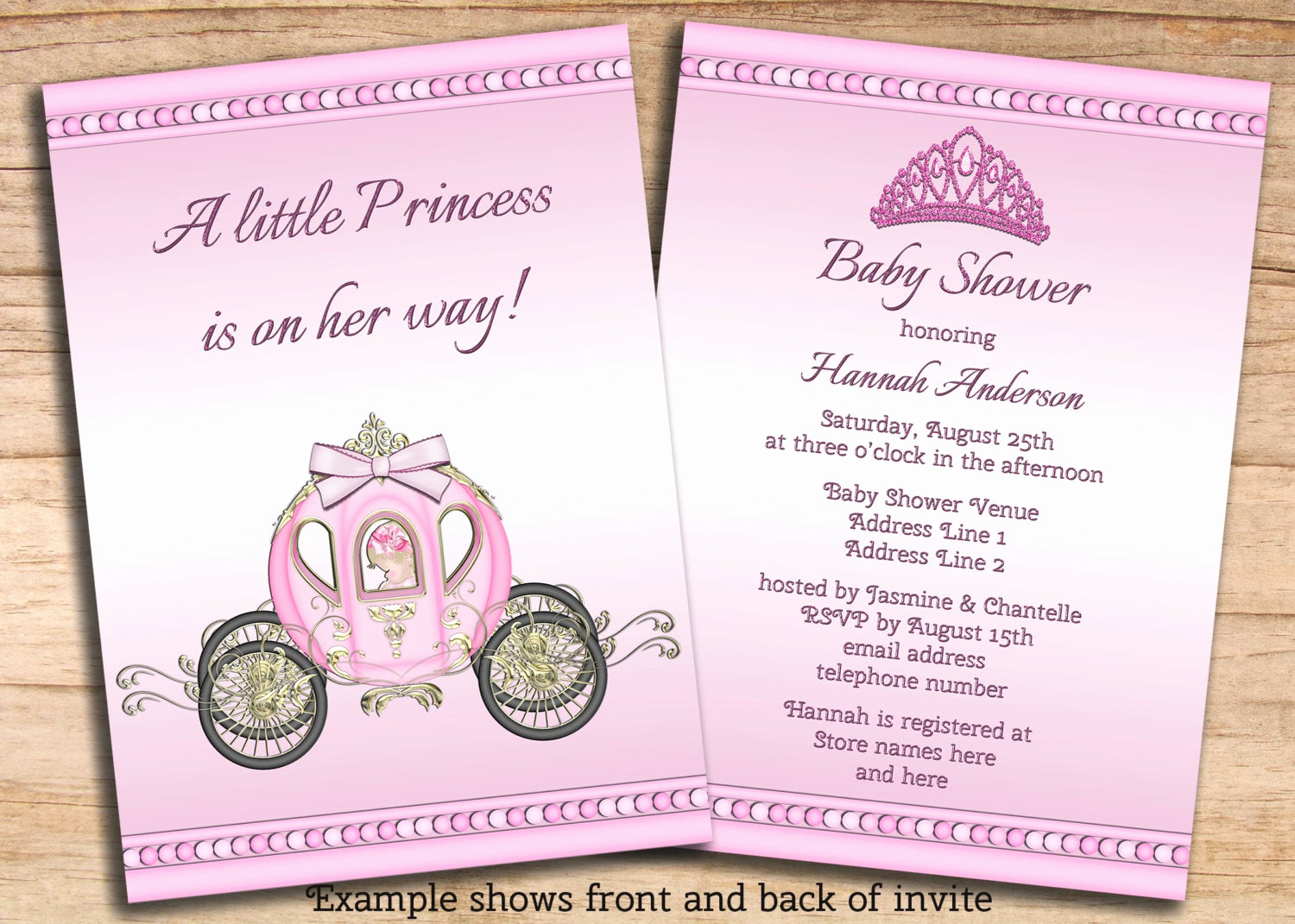 Princess Baby Shower Invitations Lovely Printable Princess Girls Pink Baby Shower by