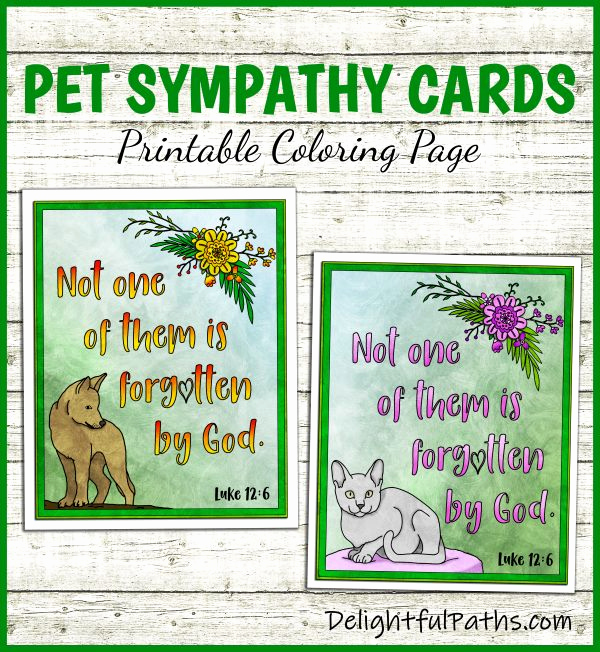 Print Out Sympathy Card Awesome Printable Pet Sympathy Cards Delightful Paths