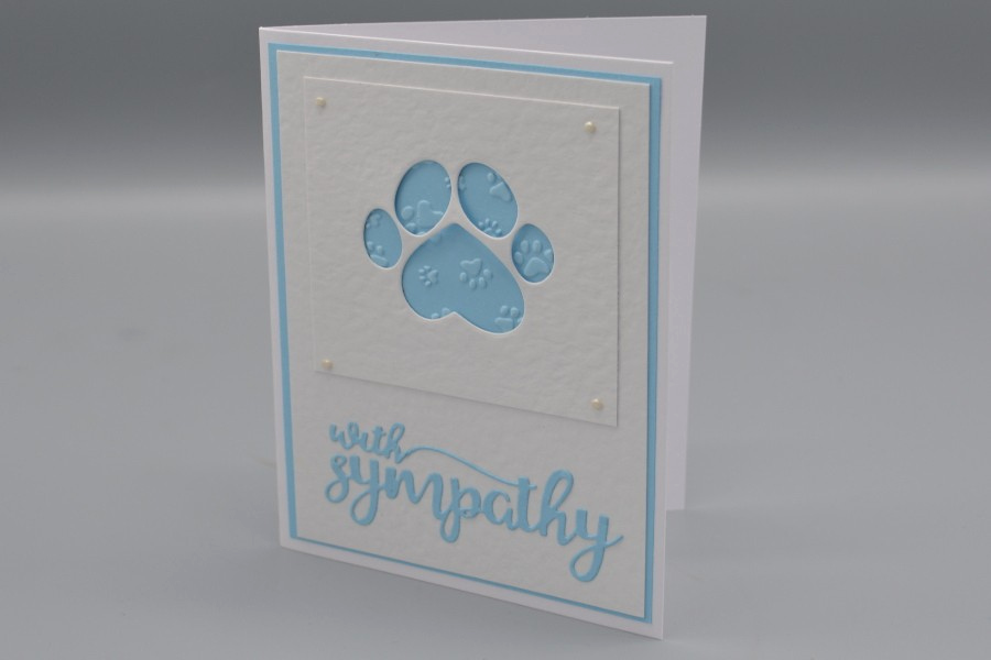 Print Out Sympathy Card Beautiful Paw Print with Sympathy Card
