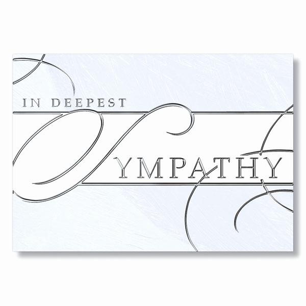 Print Out Sympathy Card Elegant formal Business Sympathy Card