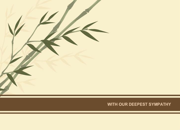 Print Out Sympathy Card Fresh Sympathy Cards Sympathy Card Bamboo